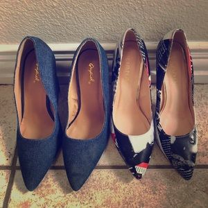 4 pair of women shoes